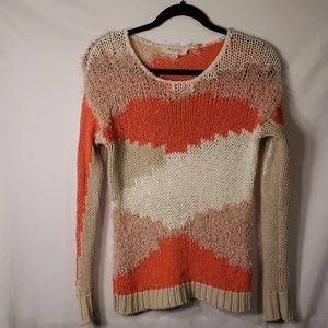 Two By Vince Camuto Peach, Tan, and Taupe Sweater
